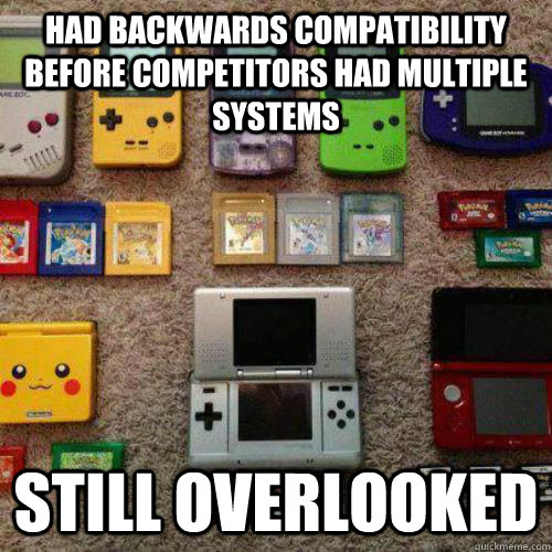 Had backwards compatibility before competitors had multiple systems Still overlooked  - Had backwards compatibility before competitors had multiple systems Still overlooked   Misc