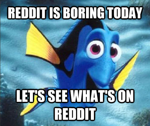 REDDIT IS BORING TODAY LET'S SEE WHAT'S ON REDDIT
