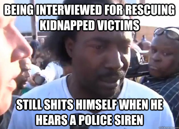 Being interviewed for rescuing kidnapped victims still shits himself when he hears a police siren - Being interviewed for rescuing kidnapped victims still shits himself when he hears a police siren  charles ramsey