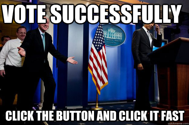 Vote successfully Click the button and click it fast  Inappropriate Timing Bill Clinton