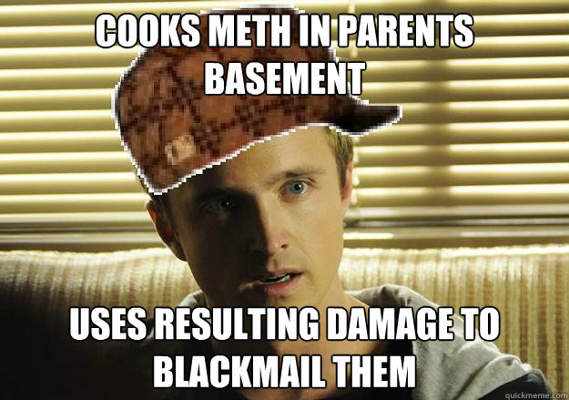Cooks meth in parents basement uses resulting damage to blackmail them