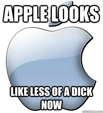 apple looks  like less of a dick now