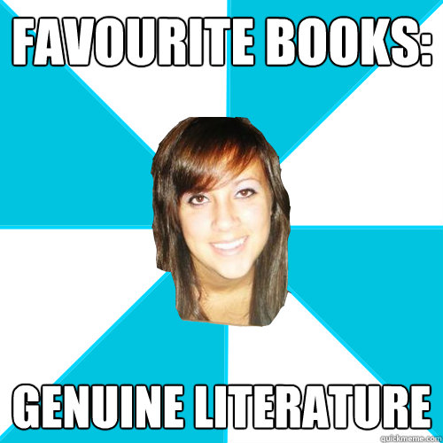 FAVOURITE BOOKS: GENUINE LITERATURE