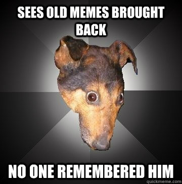 SEES OLD MEMES BROUGHT BACK NO ONE REMEMBERED HIM - SEES OLD MEMES BROUGHT BACK NO ONE REMEMBERED HIM  Depression Dog