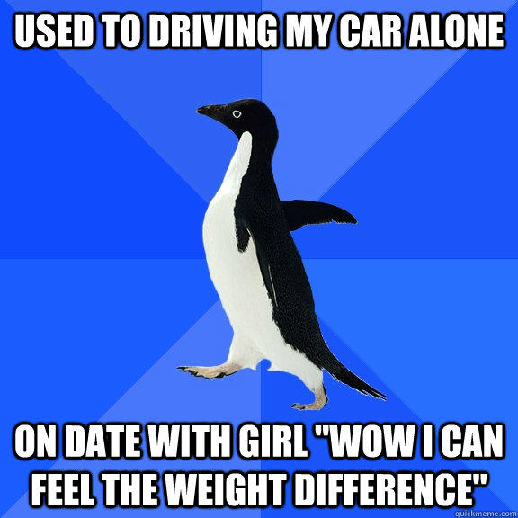 Used to Driving my car alone On date with girl