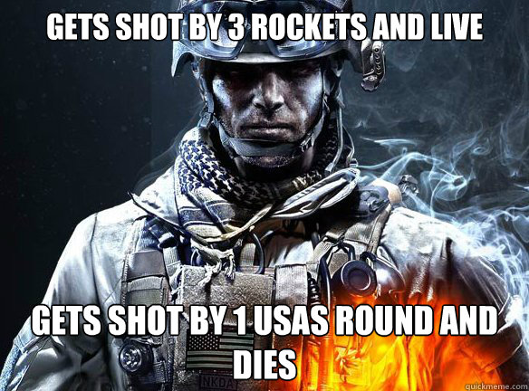 GETS SHOT BY 3 ROCKETS AND LIVE GETS SHOT BY 1 USAS ROUND AND DIES - GETS SHOT BY 3 ROCKETS AND LIVE GETS SHOT BY 1 USAS ROUND AND DIES  Battlefield 3