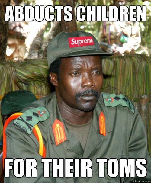 abducts children for their TOMS