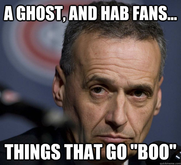 A Ghost, and hab fans... Things that go