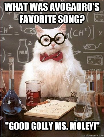 what was Avogadro's favorite song?
