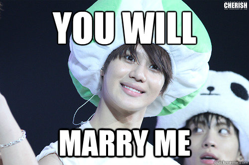 you will marry me - you will marry me  Creepy Taemin