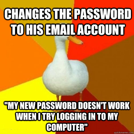 changes the password to his email account