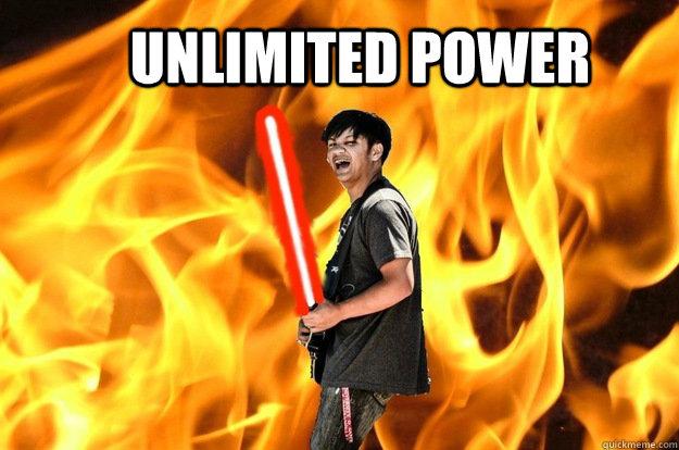 unlimited power - unlimited power  Darth Zach