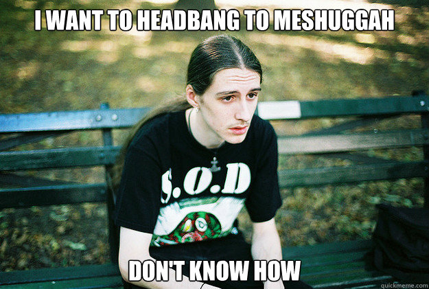 I want to headbang to meshuggah don't know how - I want to headbang to meshuggah don't know how  First World Metal Problems
