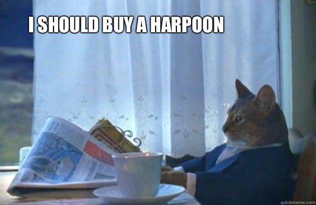 I should buy a harpoon - I should buy a harpoon  Sophisticated Cat