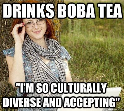 drinks boba tea