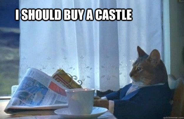 I should buy a castle - I should buy a castle  Sophisticated Cat