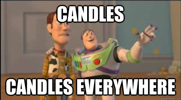 candles candles everywhere - candles candles everywhere  Misc