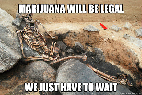 MARIJUANA WILL BE LEGAL WE JUST HAVE TO WAIT