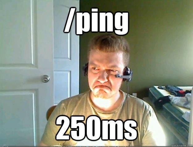 /ping 250ms