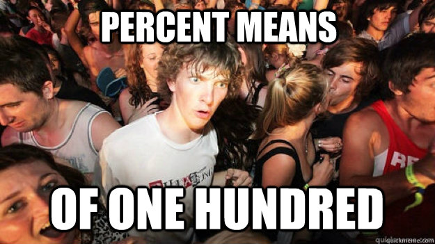 Percent means Of one hundred - Percent means Of one hundred  Sudden Clarity Clarence
