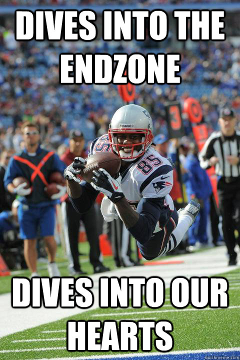 Dives into the endzone Dives into our hearts