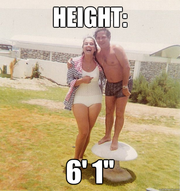 Online dating height