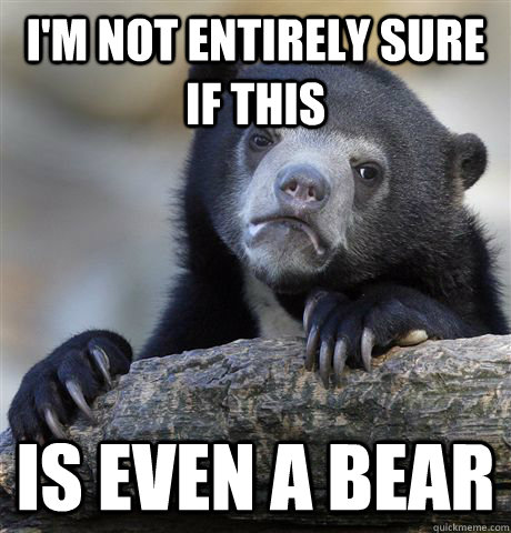 I'm not entirely sure if this Is even a bear - I'm not entirely sure if this Is even a bear  Confession Bear