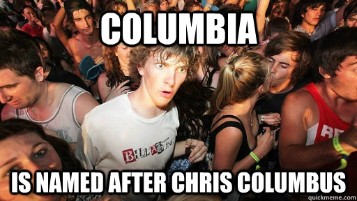 Columbia is named after Chris Columbus - Columbia is named after Chris Columbus  Misc