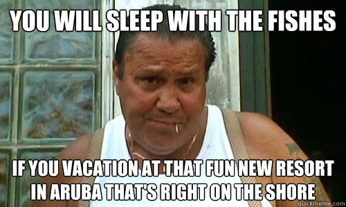You will sleep with the fishes if you vacation at that fun new resort in aruba that's right on the shore