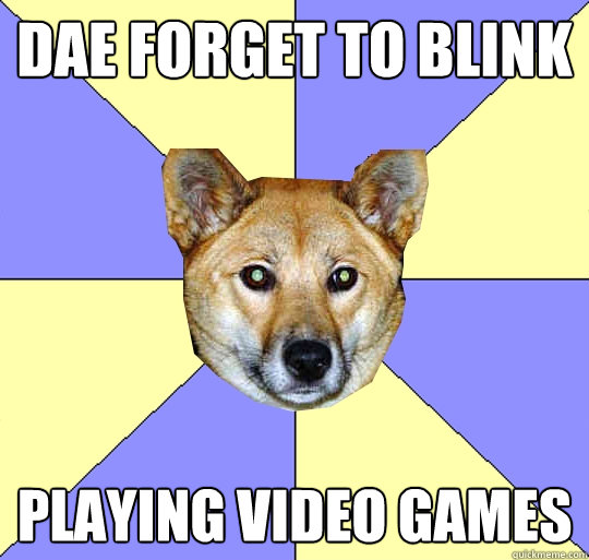 DAE forget to blink playing video games  DAE Dingo