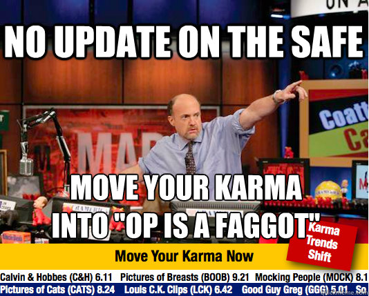 no update on the safe move your karma  into