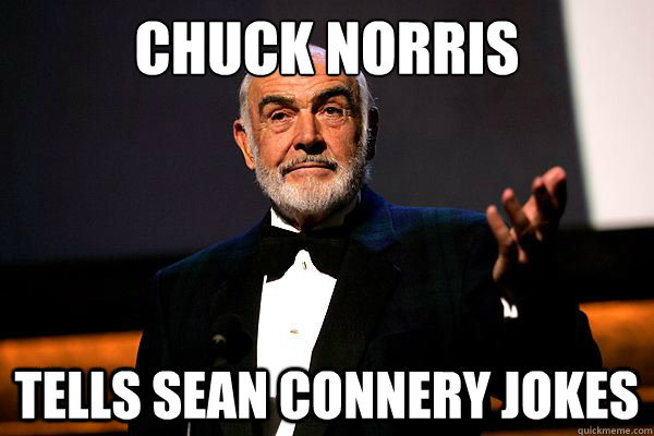 Chuck Norris Tells Sean Connery Jokes  sean connery