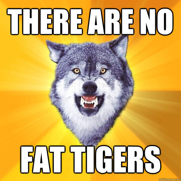 THERE ARE NO FAT TIGERS - THERE ARE NO FAT TIGERS  Courage Wolf