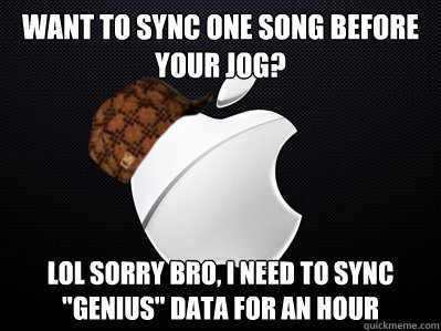 want to sync one song before your jog? lol sorry bro, i need to sync