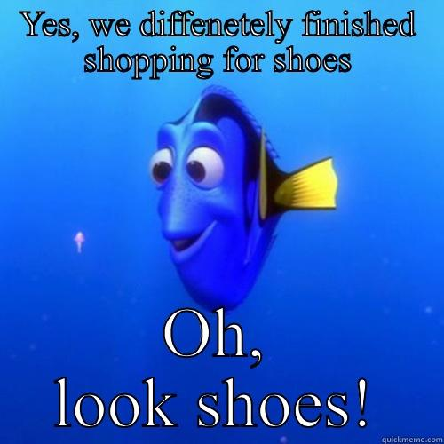 Girls shopping - YES, WE DIFFENETELY FINISHED SHOPPING FOR SHOES OH, LOOK SHOES! dory