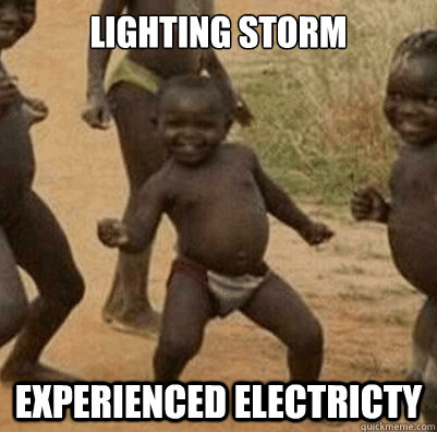 Lighting Storm  Experienced Electricty
