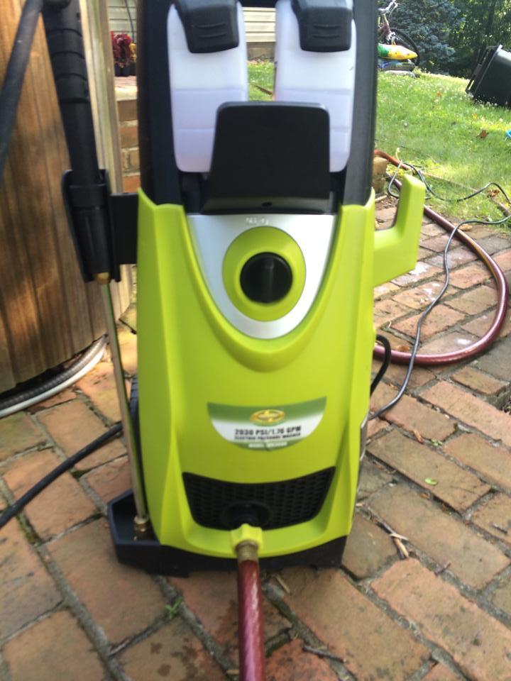 My power washer looks like Mike Wazowski -   Misc