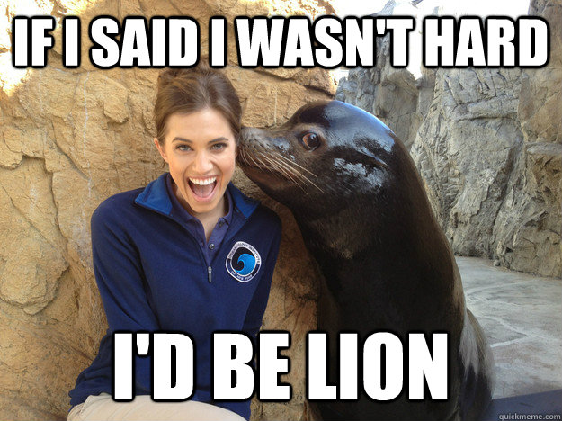 If I said I wasn't hard I'd be Lion  Crazy Secret