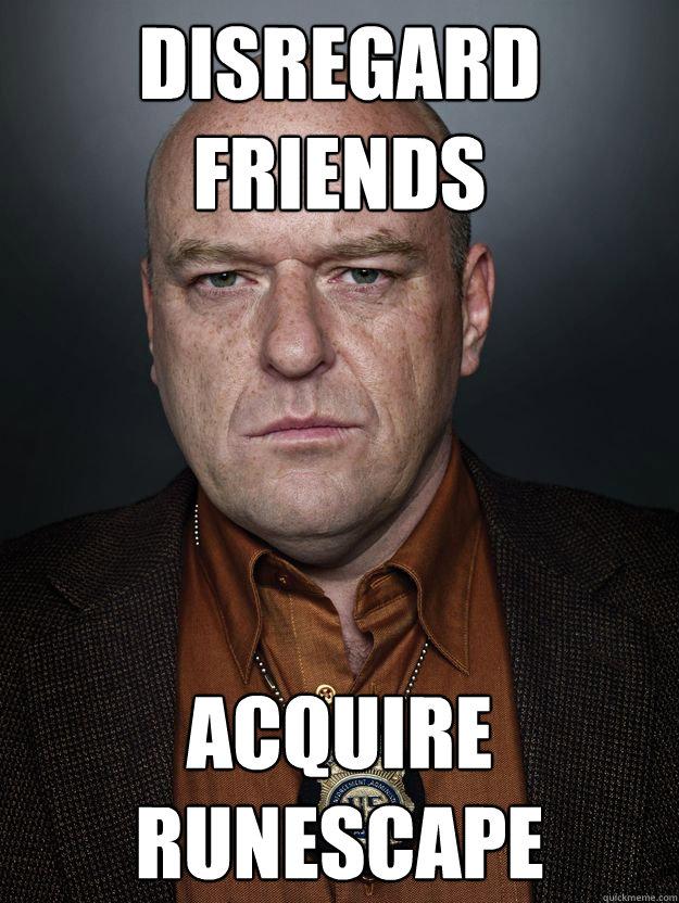 disregard friends acquire runescape