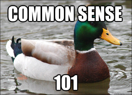 common sense 101 - common sense 101  Actual Advice Mallard
