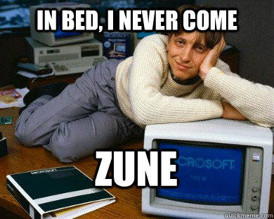 in bed, i never come zune - in bed, i never come zune  Dreamy Bill Gates in Bed