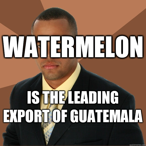 Watermelon Is the leading export of Guatemala  - Watermelon Is the leading export of Guatemala   Successful Black Man