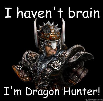 I haven't brain I'm Dragon Hunter!  Gothic - game