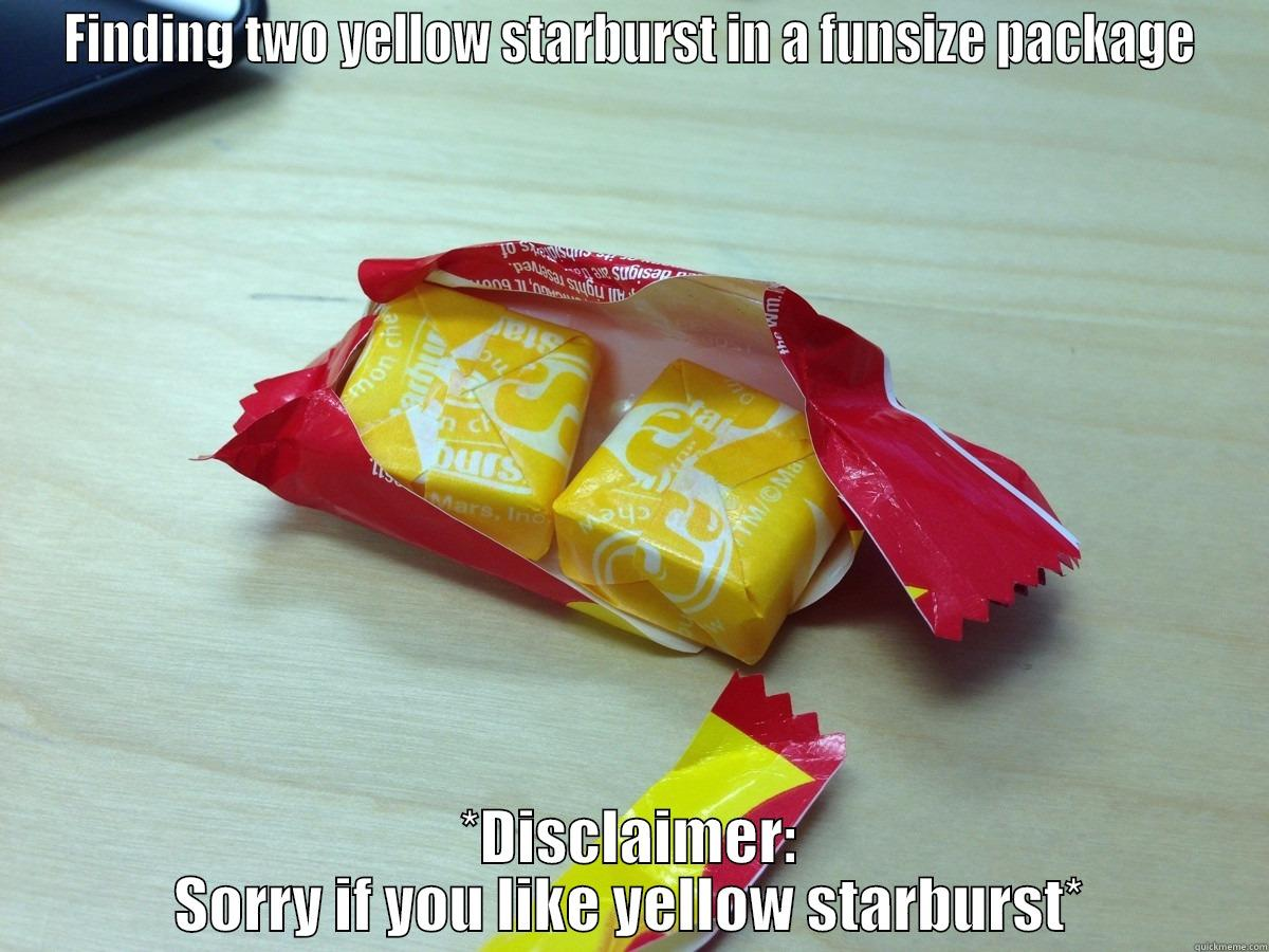 Bad Starburst - FINDING TWO YELLOW STARBURST IN A FUNSIZE PACKAGE *DISCLAIMER: SORRY IF YOU LIKE YELLOW STARBURST* Misc