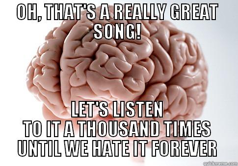 OH, THAT'S A REALLY GREAT SONG! LET'S LISTEN TO IT A THOUSAND TIMES UNTIL WE HATE IT FOREVER Scumbag Brain