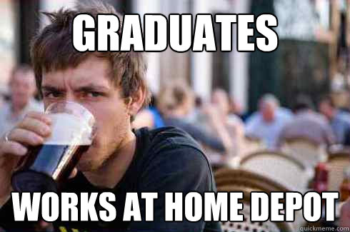 graduates works at home depot - graduates works at home depot  Lazy College Senior