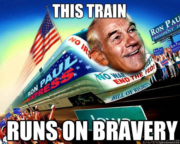this train runs on bravery