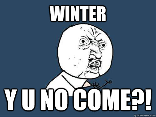 Winter y u no come?! - Winter y u no come?!  Y U No