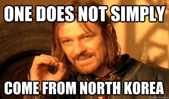 ONE DOES NOT SIMPLY COME FROM NORTH KOREA