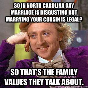 Gay marriage family values